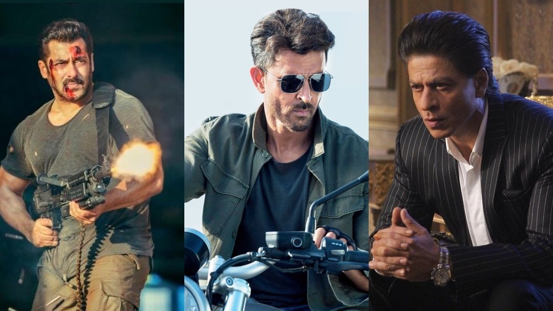 YRF all set to create a SPY universe with all the Top Actors and Actresses of Bollywood. #ShahRukhKhan, #SalmanKhan, #HrithikRoshan, #KatrinaKaif and #DeepikaPadukone to  be seen as special agents making cameo appearances in #Tiger3, #Pathan and #War2.