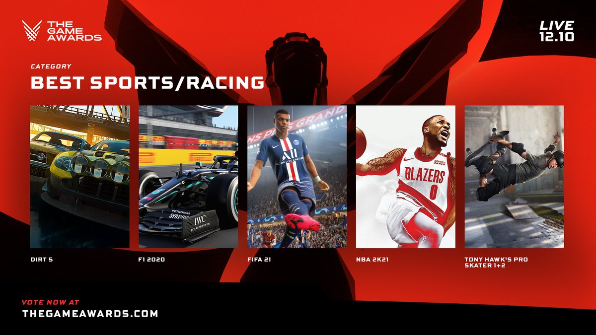 #DIRT5 and #F12020game are both nominated for 'Best Sports/Racing Game' at #TheGameAwards but we need your vote!  Think either is worthy of taking home the award? You can vote here 👉