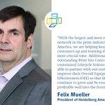 Image for the Tweet beginning: Felix Mueller, President of Heidelberg