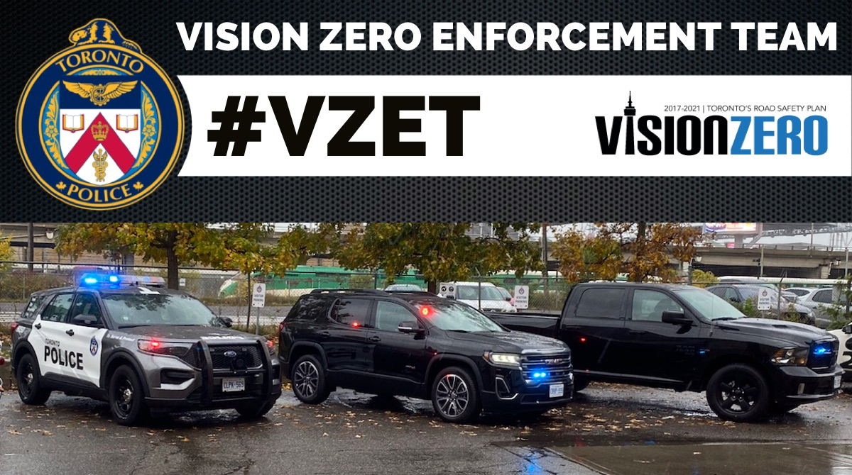 Our @TorontoPolice #VZET Enforcement officers are focused on #VisionZero & will be in @TPS11div & @TPS33div today. #SlowDown & watch for vulnerable road users or expect to receive a ticket. @TPScott_baptist @TPSOperations @TDotCop @cityoftoronto @TO_Transport