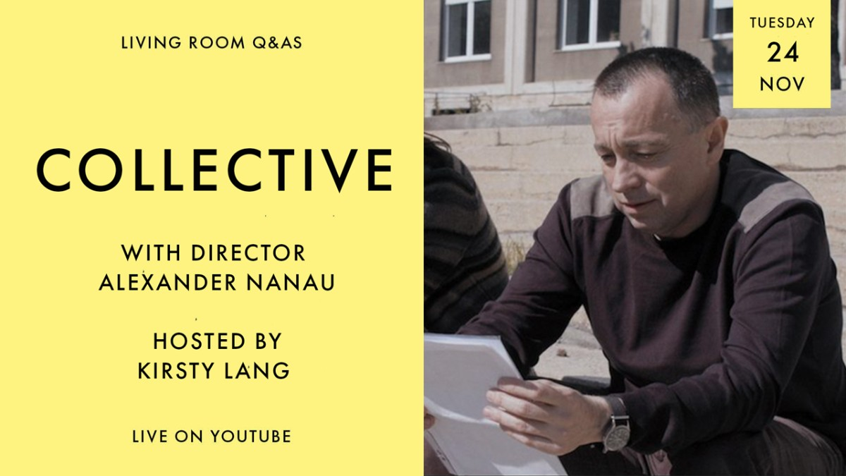 Don't miss tonight's LIVE #CurzonLivingRoom Q&A in celebration of the release of COLLECTIVE with director Alexander Nanau. See you at 8.30pm.