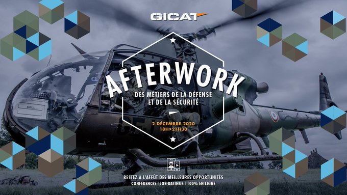 Image for the Tweet beginning: Quoi ? #AfterworkDéfenseSécurité @GICAT_FR  Quand