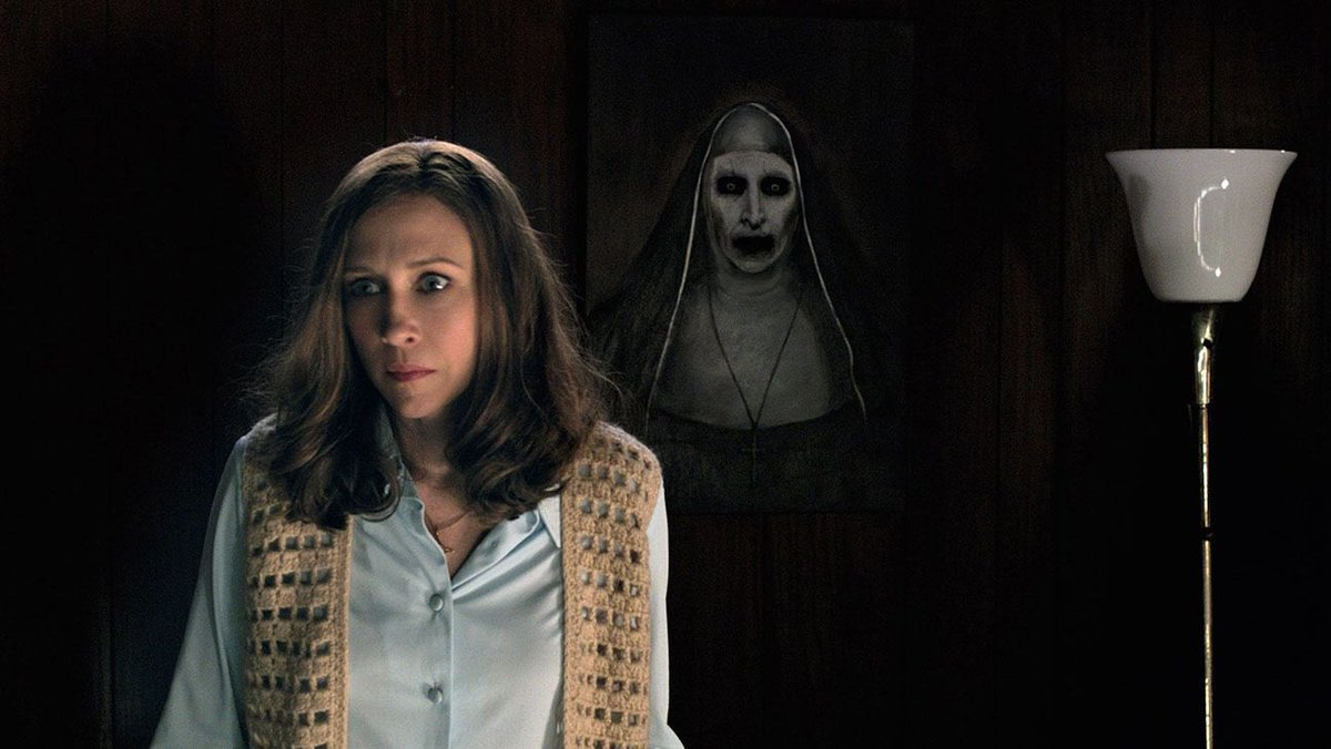 A nun that occasionally comes for surprise visits!   #NiceAHorrorFilm