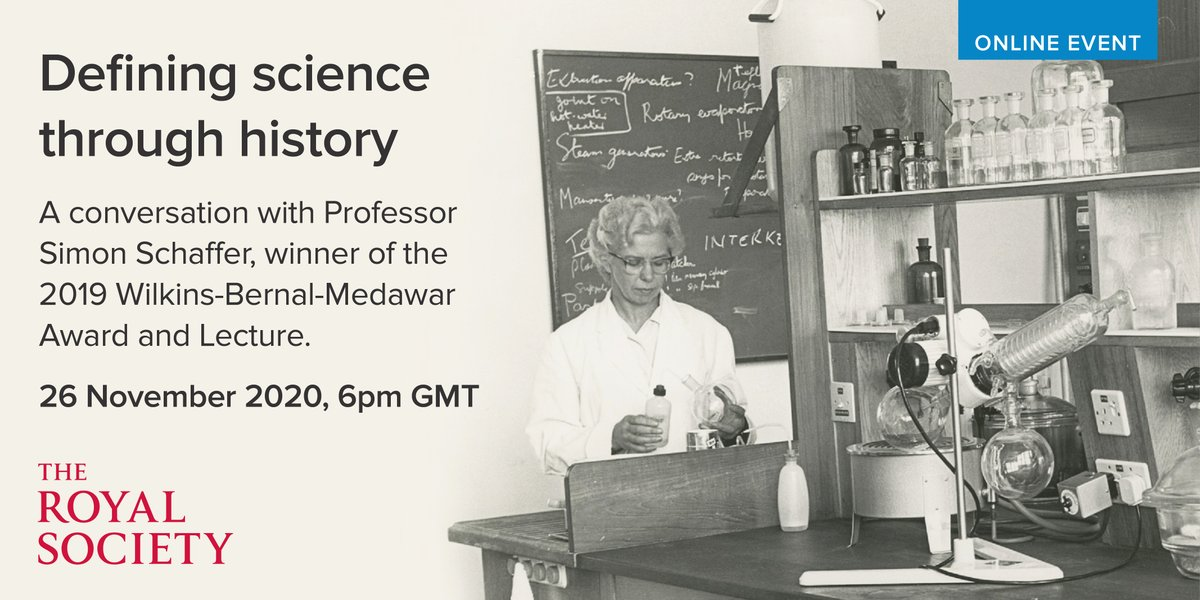 Join us live this Thursday as @Lubaabanama leads an online discussion on how we define science through history with Professor Simon Schaffer, winner of the 2019 Wilkins-Bernal-Medawar Medal and Lecture. Find out more: