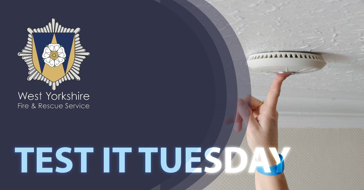 #TestItTuesday Press the button. Test your smoke alarm. It could save your life.