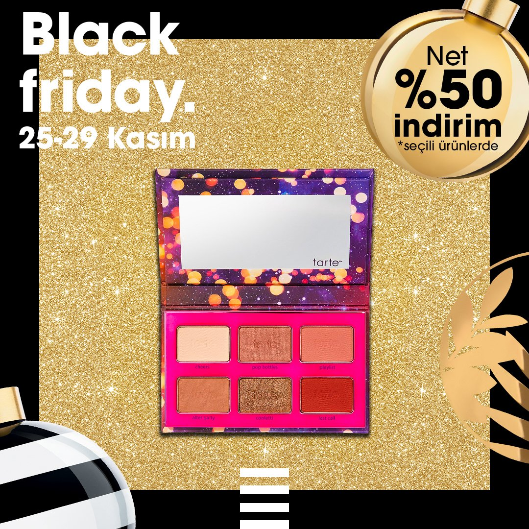 Black Friday indirimleri için başladı! 🎉 25-29 Kasım tarihleri arasında seçili ürünlerde NET %50 indirimi keşfet!🤩 https://t.co/7ShqnAFZfW