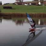 Image for the Tweet beginning: German freestyle windsurfer  Lukas