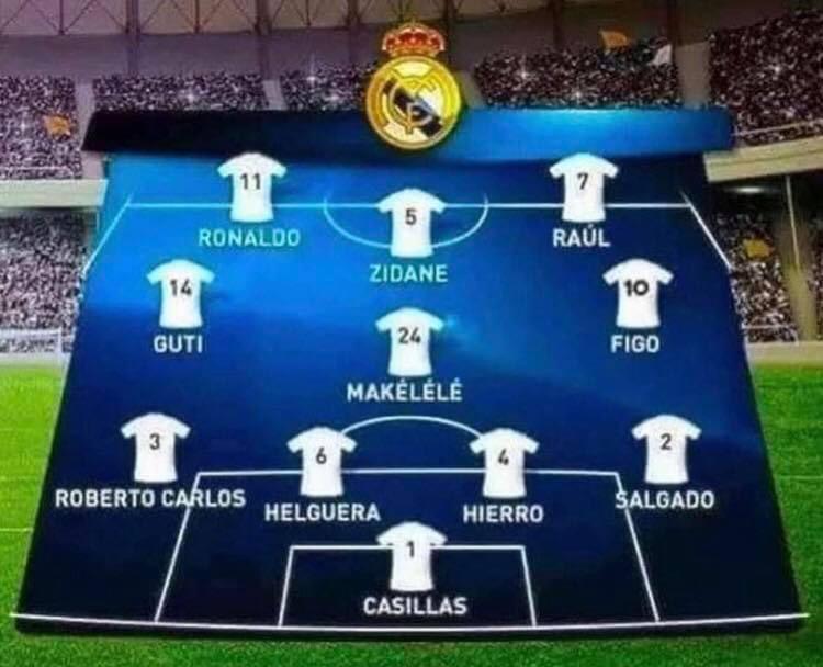 Football Tweet On Twitter This Real Madrid Xi