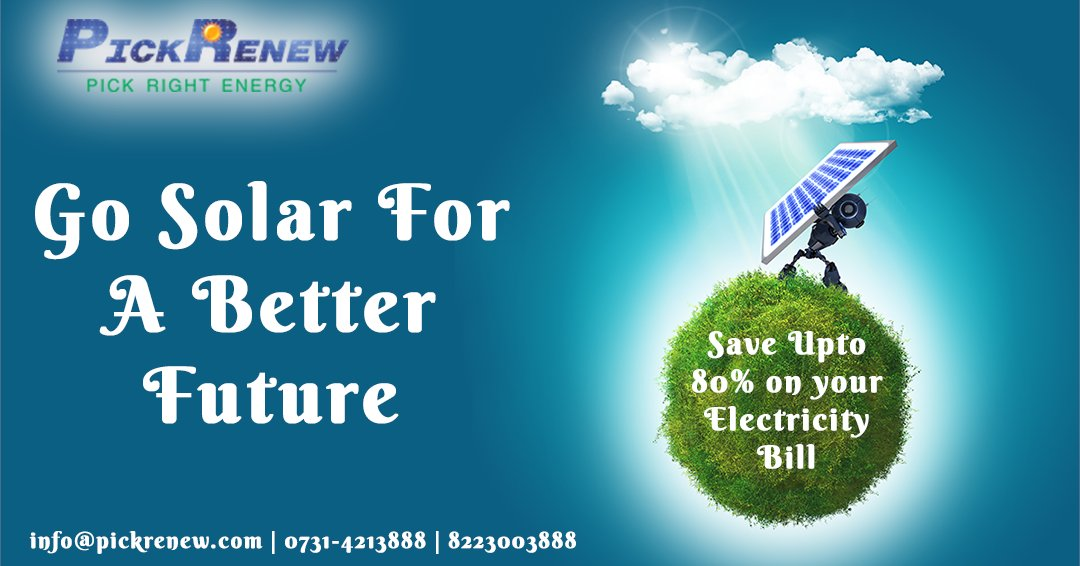 Go Solar For A Better Future. Save Up to 80% On Your #electricitybill  Our Experts: 0731-4213888 | 8223003888  Visit:   #Solar #solarenergy #solarpanels #RenewableEnergy #solarinstallations #Indore #solarpv #solarsystem #madhyapradesh #Residential