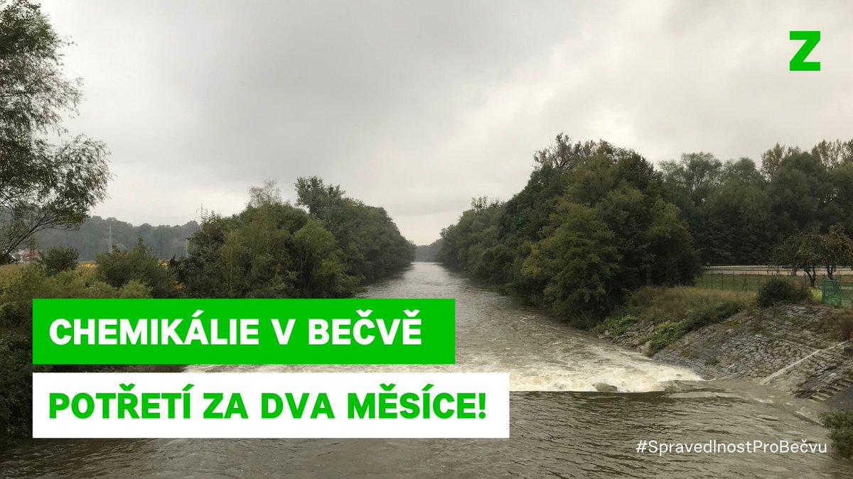 Hasiči a policie opět zasahují na Bečvě, do řeky unikla neznámá látka.  Potřetí za dva měsíce.  Tohle musí skončit: - potřebujeme kontinuální monitoring stavu řek - přísnější limity pro oznamování chemikálií - mít možnost vymáhat ekologickou újmu v penězích  #SpravedlnostProBečvu https://t.co/FUbEUFMCqB