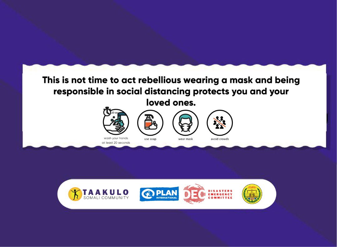 This is not time to act rebellious wearing a mask and being responsible in social distancing protects you and your loved ones. @PlanUK #planinternational @decappeal #decappeal   #stayalert  #Staysafe  #WashYourHands  #SocialDistancing