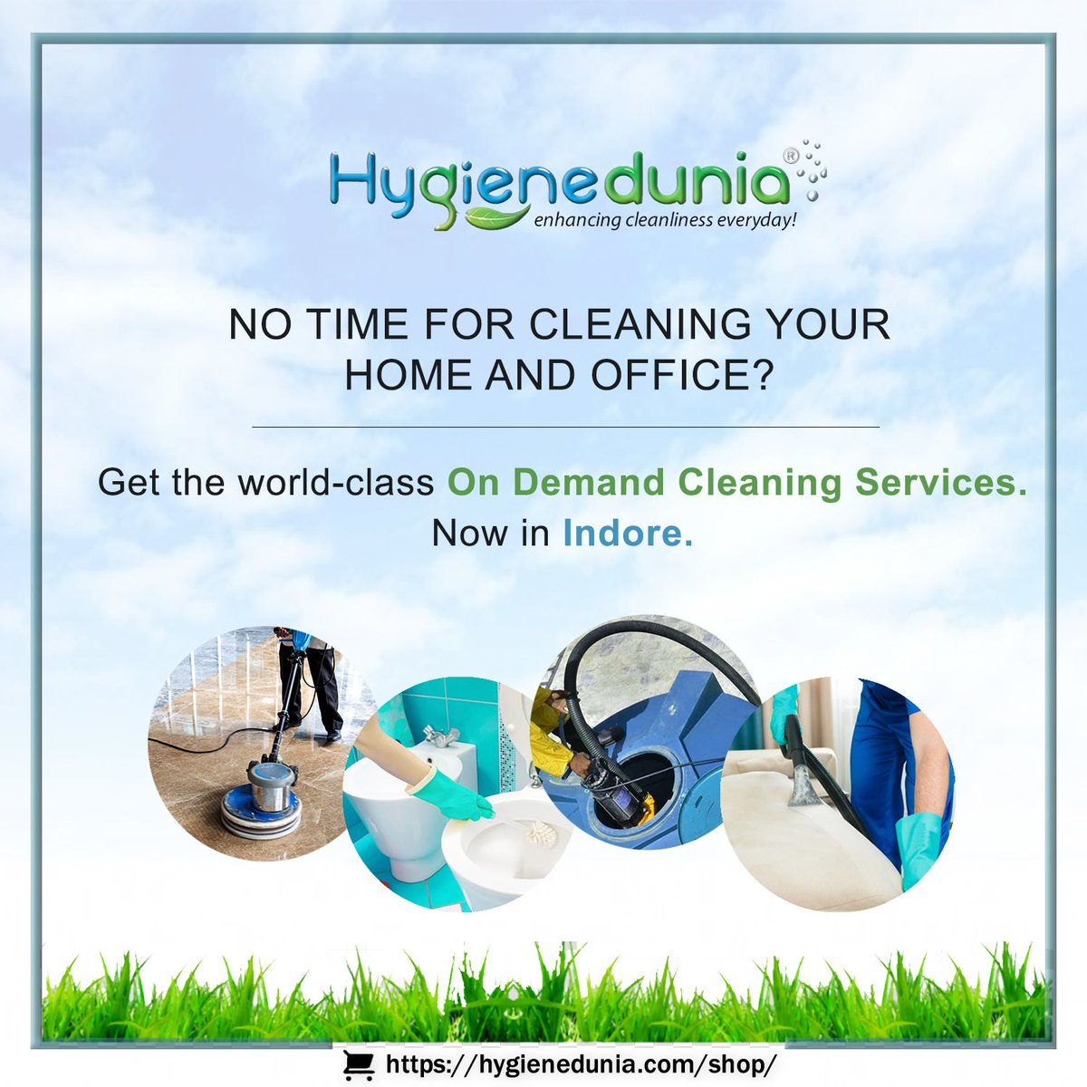 Keep your friends and colleagues safe. Disinfect your House and Public places with #Hygienedunia!! . . Get India's No.1 Professional On-Demand Cleaning Services in #Indore Now !! Just one click !! Visit Now:-