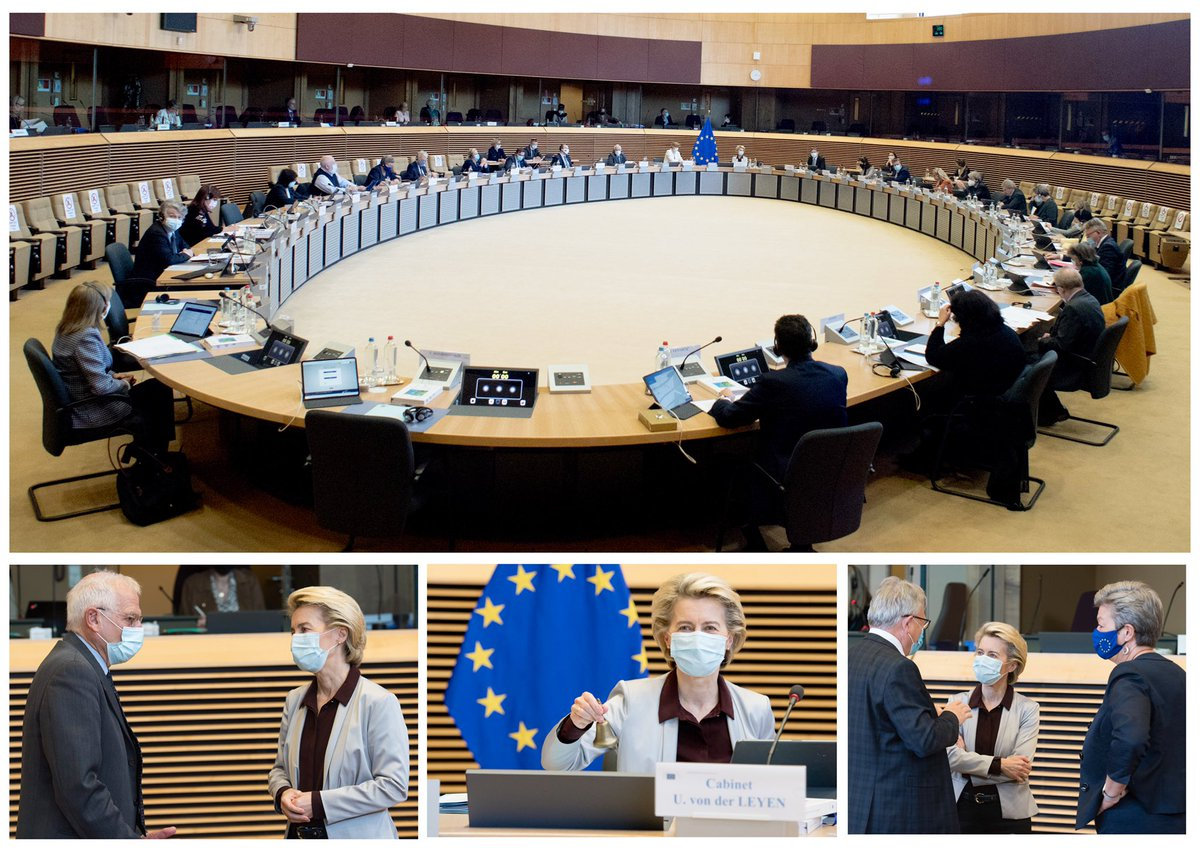 Today's meeting of the Commissioners: 🔸Action Plan on Integration & Inclusion 🔸Promoting gender equality in 🇪🇺external action 🔸Modernising our Intellectual Property rules to better protect creation 🔸Facilitating data sharing to create wealth 🔸New pharmaceutical strategy