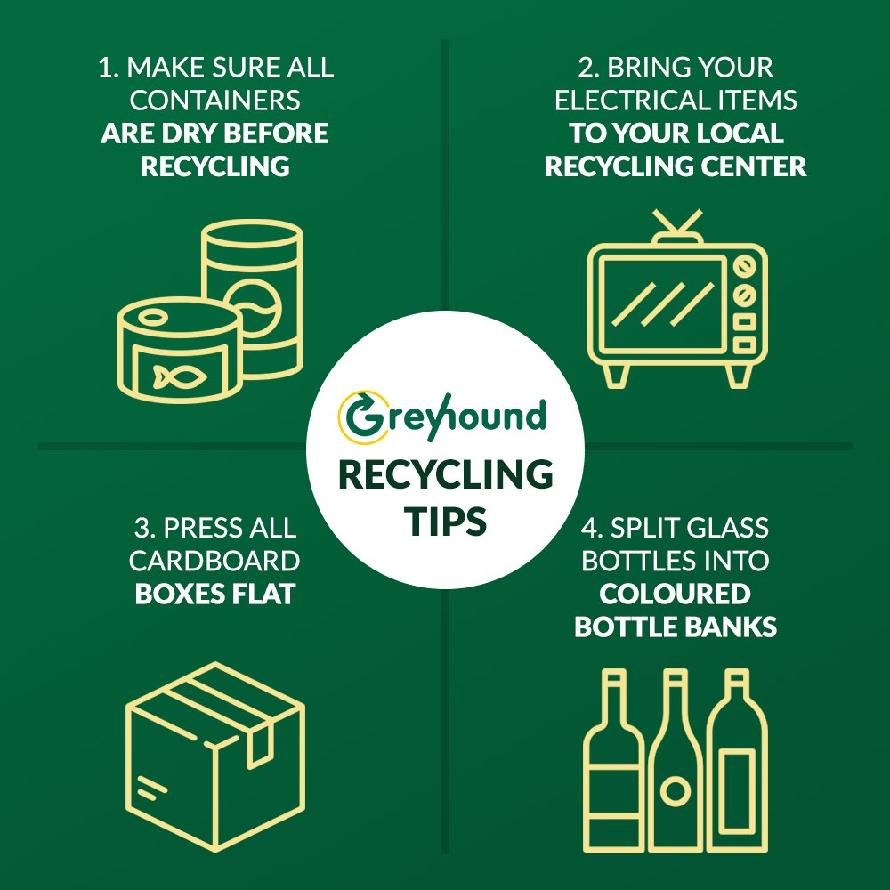 Some small tips to make the recycling process easier for those after it leaves your home ✅  #GreyhoundReycling #climatechange #education #green #environment #lifestyle #trendsetter #innovation #sustainability #SDGs #GreyhoundRecycling #RecyclingFacts #climatechange #GlobalGoals
