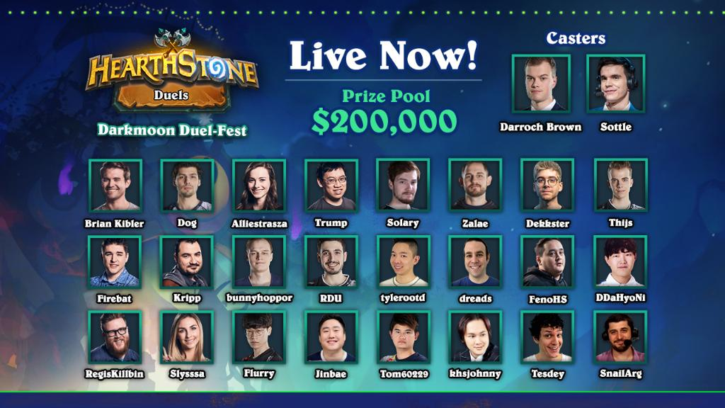 PlayHearthstone - The Darkmoon Duel-Fest is ON! 🏆  Join the stream, grab a snack, and settle in for some legendary Duels, hosted by @coL_Sottle and @DarrochBrown!  📺