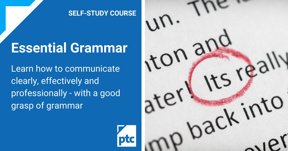 Get Essential Grammar for half-price when you enrol on another distance learning course: ow.ly/Pv0k50CtGAL