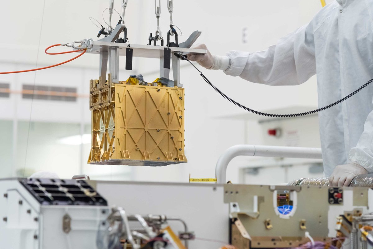 As we continue my #CountdownToMars, learn more about an experimental device I have called MOXIE. It's designed to convert carbon dioxide from the Martian air into oxygen. That'll be important for fuel and life support in future Red Planet exploration.