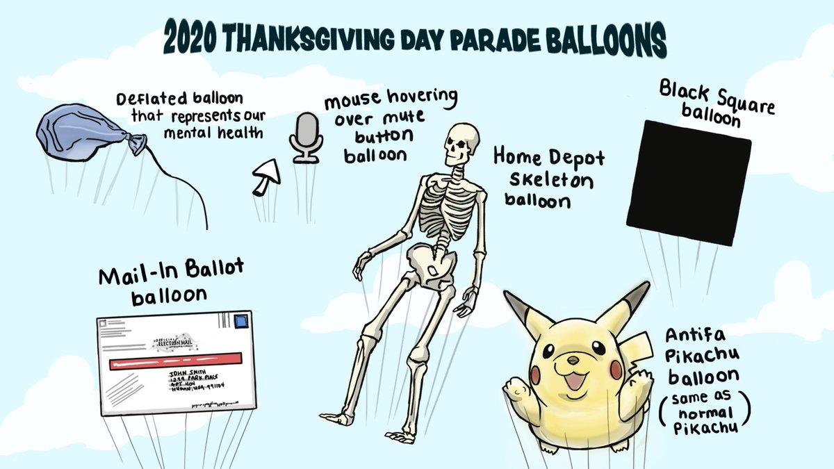 2020 thanksgiving day parade balloons