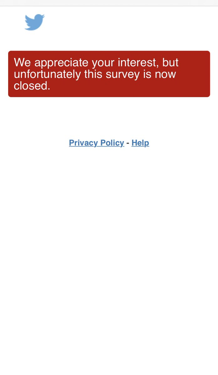 @TwitterMENA Survey is closed 🤷🏻♂️  #VerificationFeedback