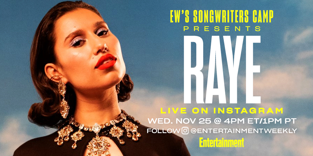 British singer-songwriter @Raye is chatting with us live on IG tomorrow 11/25 about songwriting, her new album 'Euphoric Sad Songs,' and more. Make sure to tune in!