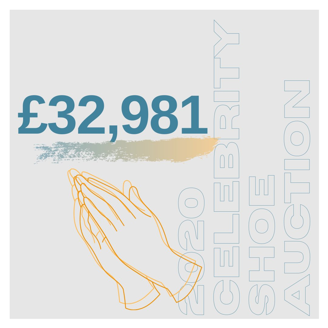 This year's #CelebrityShoeAuction raised a total of £32,981.00 ‼️‼️ Thank you SO MUCH from the bottom of our hearts to everyone who took part - the celebrities who donated shoes, the winning bidders and our amazing volunteers at @plainjaneevents who ran this years auction 💙