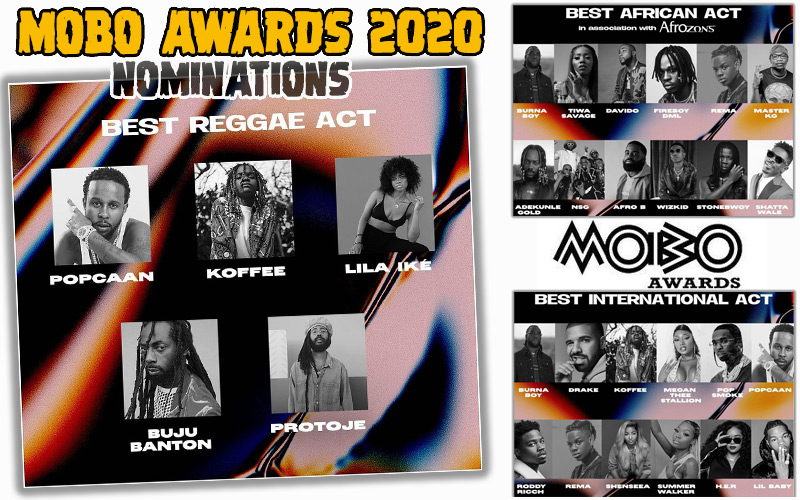 IN THE NEWS @  MOBO Awards 2020 Nominations...⁠Koffee, Lila Ikè, Buju Banton, Protoje, Popcaan, Shenseea, Stonebwoy, Shatta Wale!⁠ #shenseea #bujubanton #popcaan #stonebwoyb #shattawale #protoje #lilaike #koffee #reggaeville #jamaica ⁠#moboawards2020