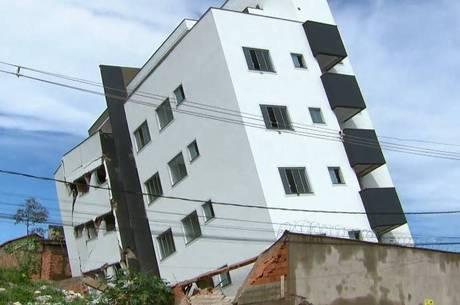 Vistoria analisa se é preciso demolir prédio que tombou em Betim (MG)