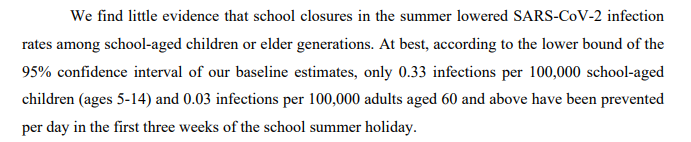 New paper on German school closures & reopening suggests limited impact on community rates. Even in fall when rates were higher.   https://t.co/UNzPVYZrs4 https://t.co/5fRUCWJXM8
