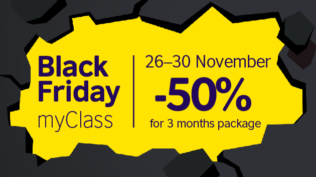 Take advantage of Black Friday myClass offer. Purchase the 3-month package of 20 credits on November 26-30 to enjoy a 5️⃣0️⃣% discount. ⏰Book your free consultation at https://t.co/IrfKhkovKM https://t.co/A1j3ReXZKu