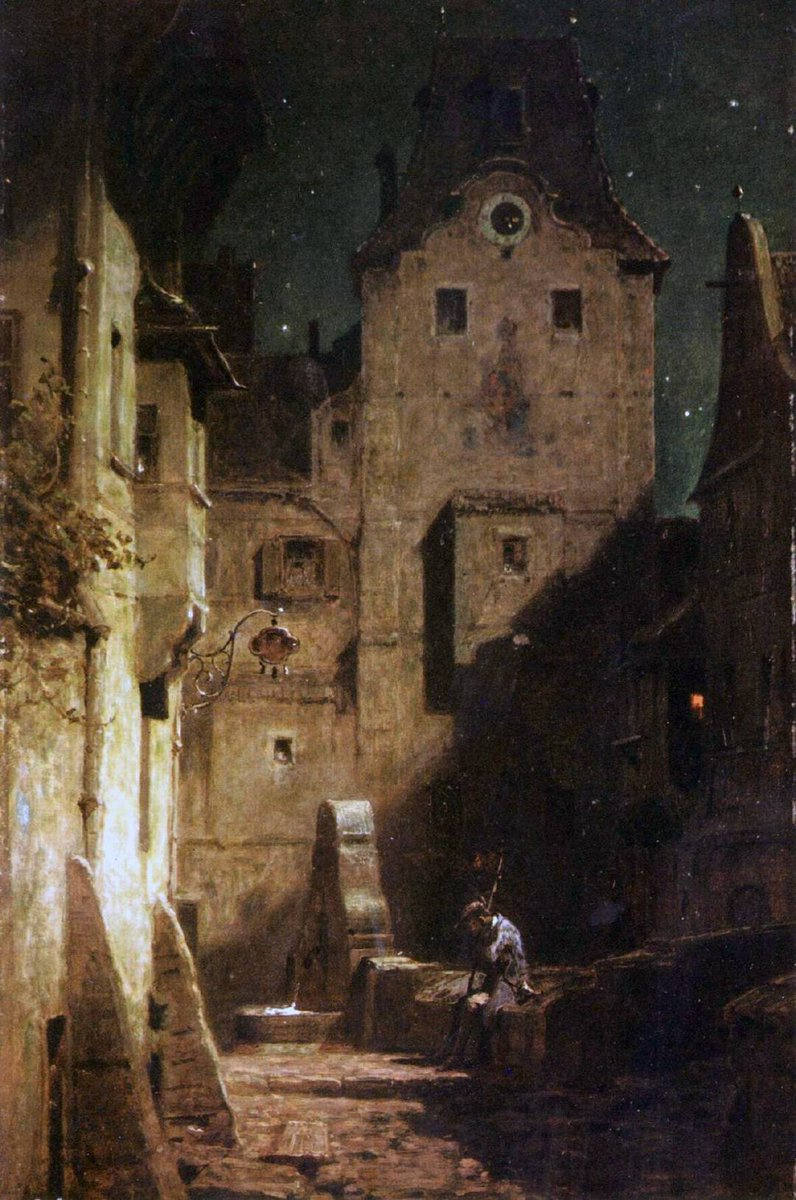 """Night Watchman, 1875"" Carl Spitzweg (German, 1808 – 1885)"