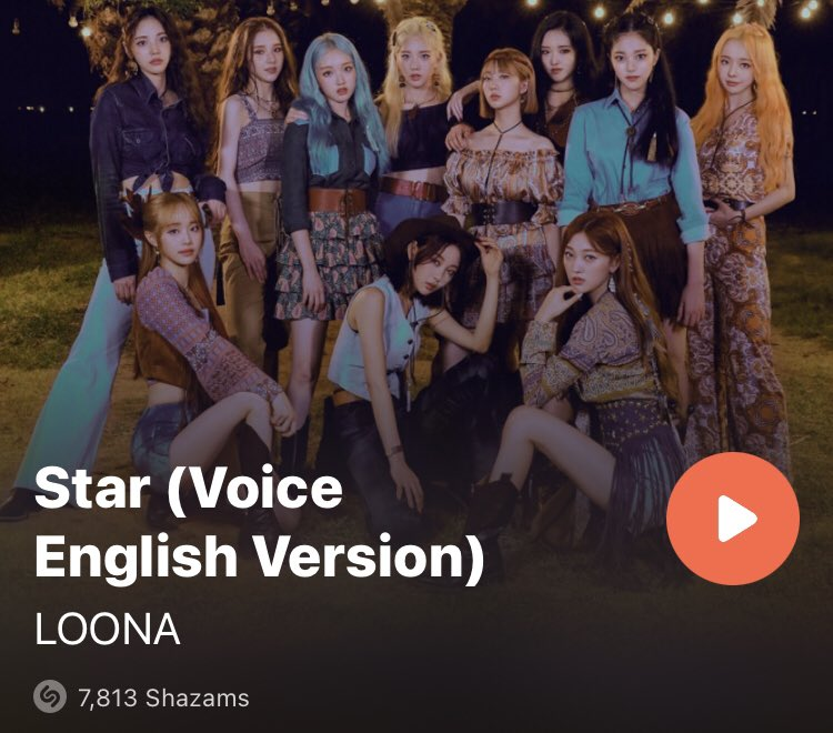 Current SHAZAM update... we are 187 away from 8K 🥳🥳🥳 Keep going Orbits! Let's aim for 10K!!! #LOONA_STAR