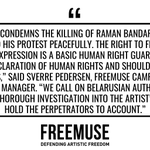 Image for the Tweet beginning: Freemuse condemns the killing of