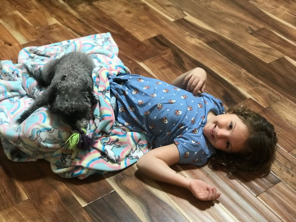 Blankies and puppy dogs…  May we all see the world through McKenna's eyes.  #girldad #daddysgirls #familytime #daddysgirl #dadlife #familyiseverything #familylove #dadliferules #dadlifeisthebestlife #daughterdaddytime #puppytime #puppylove