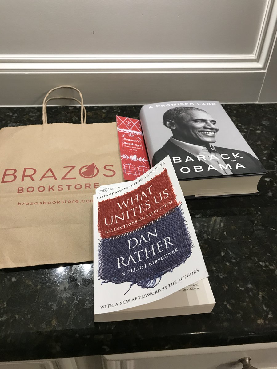 @DanRather I picked up these books for my holiday reading @BrazosBookstore in your native Houston. I just started #WhatUnitesUs. Obama will have to wait. https://t.co/ToiZ6nE4cY