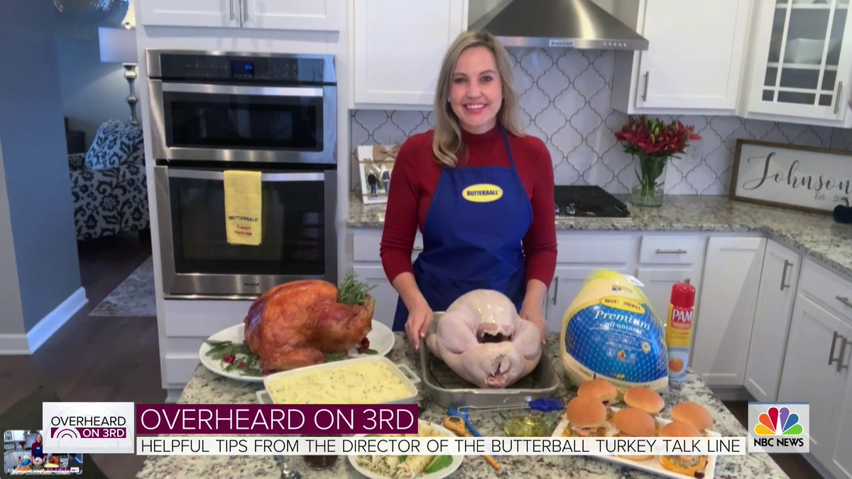 This segment is STUFFED with great turkey tips & tricks for Thanksgiving this year! Thanks @3rdhourtoday for having Nicole on the show 👏😀👏