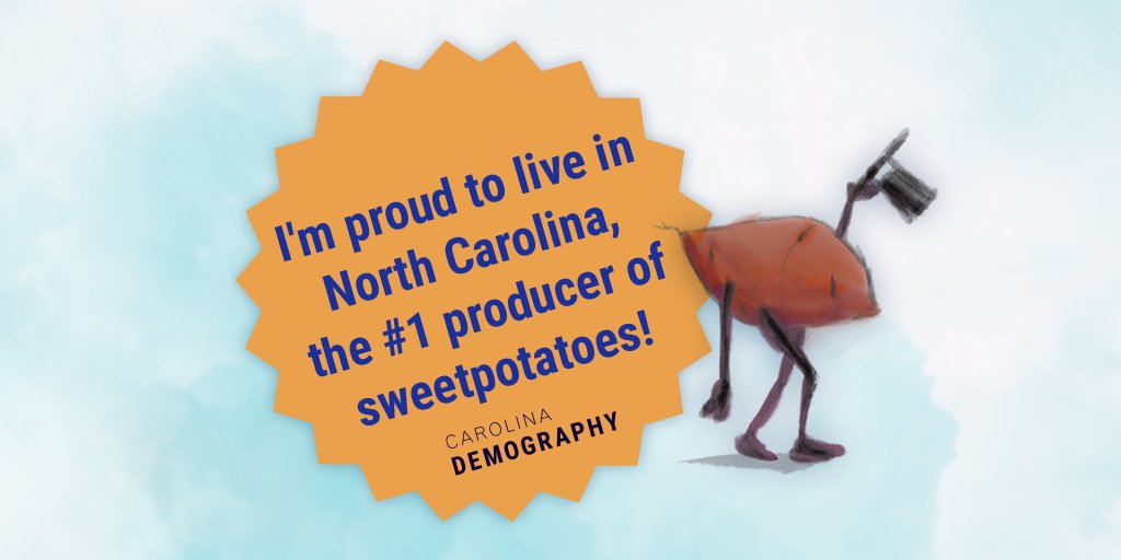 We grow sweet potatoes at a number of our Community Gardens! Glad to see NC in the #1 spot 😀 https://t.co/SA0SS4mRED