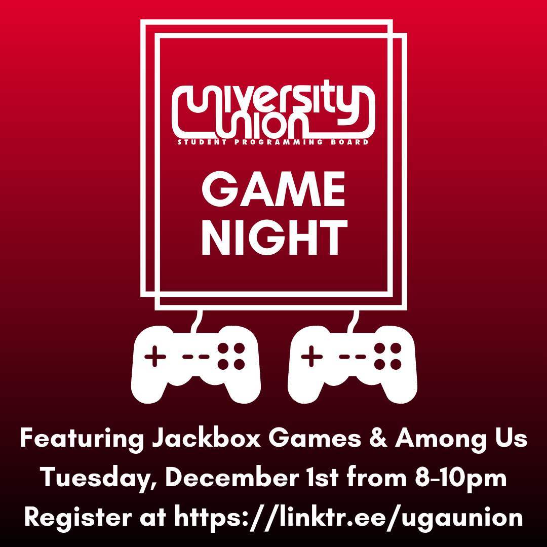 Uga University Union On Twitter Need A Break From Studying For Finals Bored Back Home Join Us For A Virtual Game Night Featuring Different Jackbox Games And Several Rounds Of Among Us