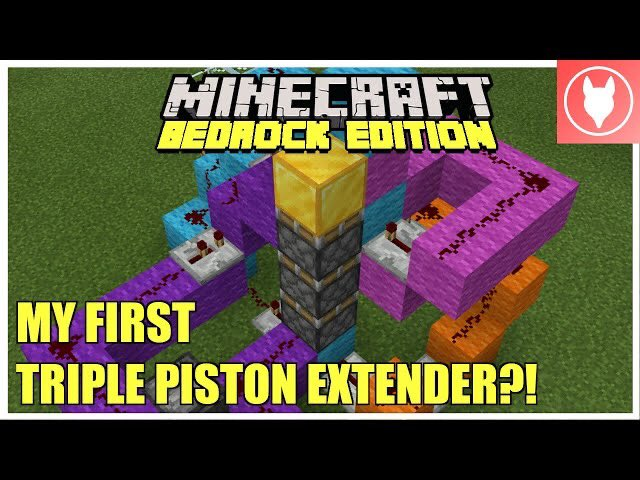 Rogue Fox - New redstone video is out now! Check out the first triple extender, and builds, that I made when Bedrock first came out!  Minecraft Bedrock - My First Triple Piston Extender & Builds  (+ Bow Tie...  via @YouTube