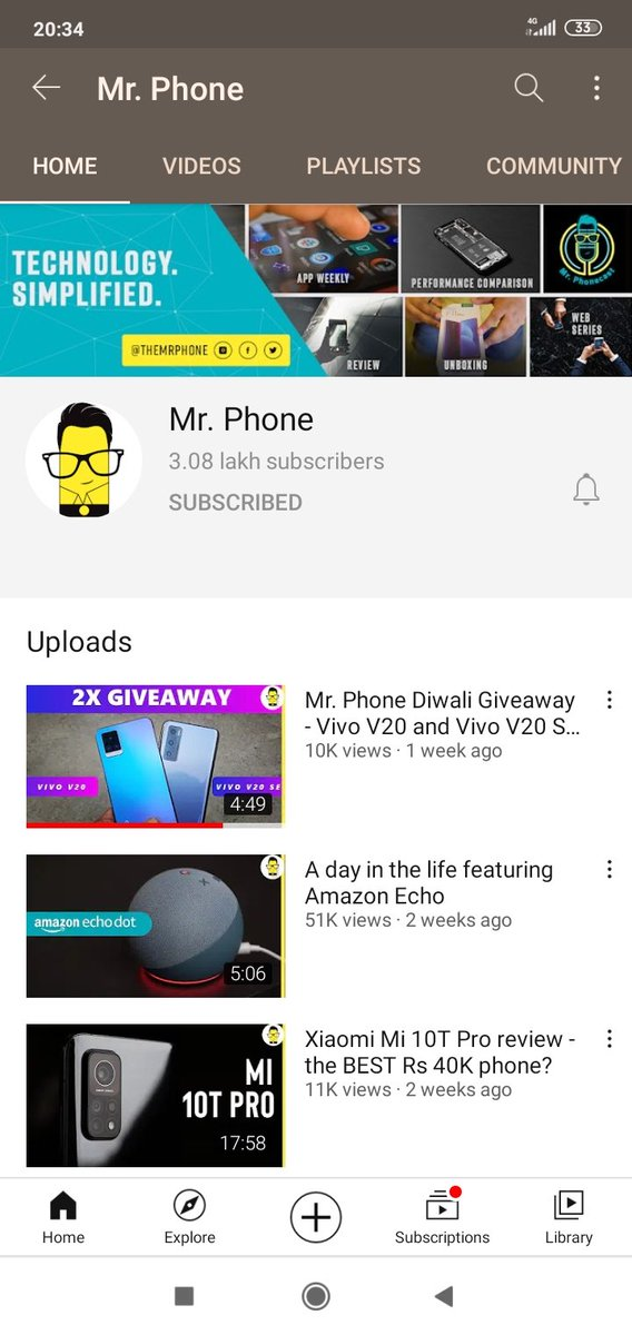 @TheMrPhone Have already subscribed both your channel. Following you on twitter and Instagram both.   @TheMrPhone .  #HappyDiwali #MrPhone