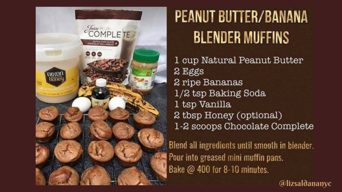 We love muffins; but not all the sugar & calories. This #recipe is delicious & #healthy. Try it & let me know what you think. #Chocolate Complete 👉  #recipes #comfortfood #protein #TuesdayTip #TuesdayTreat #TuesdayThoughts #TuesdayMorning