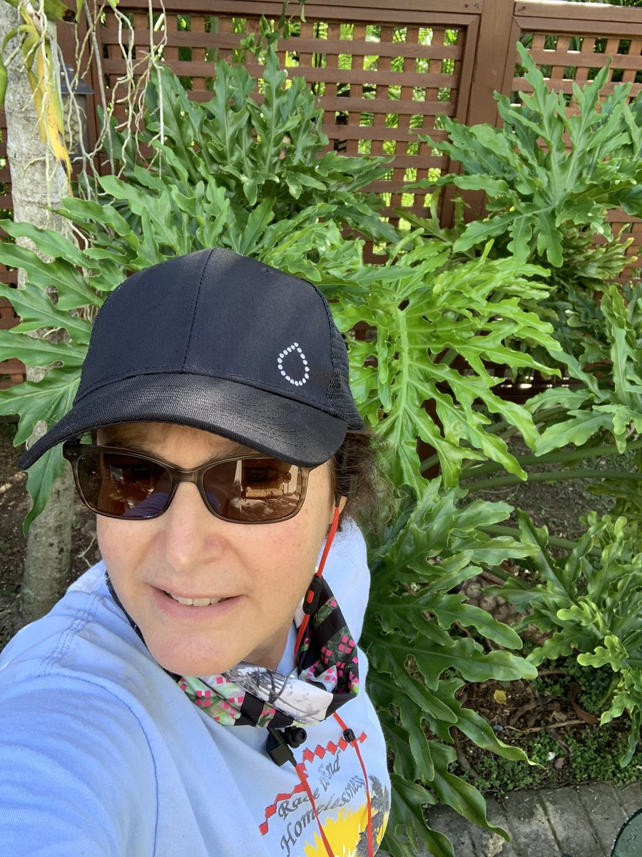 This T2 supports T1s! Love my new cap! Enjoying my morning walk while listening to @Type2andYouCDE podcast @BeyondType1 and @BeyondType2 #TheDropSpotted 😁