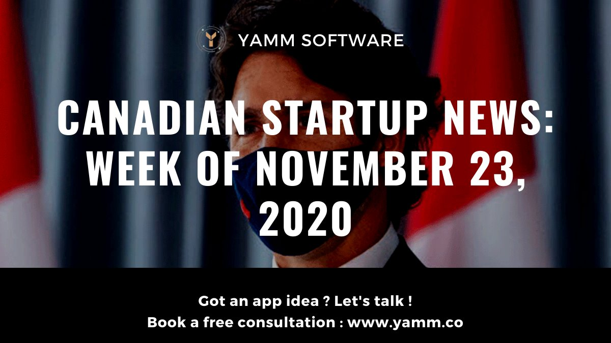 Canadian Startup News: Week of 23/11/2020 🇨🇦 - Canadian senate: new rent relief program, extension of wage subsidy till june - St. John's based Verafin aquired by Nasdaq for $2.75 billion usd Read Full Article: https://t.co/lBX7WfKYCM https://t.co/5Ngcm4sEKc