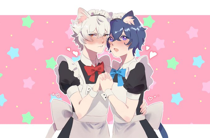 メイド×ねこみみ=最高maid catboys for free day of nyrn week :DDD !!!!#