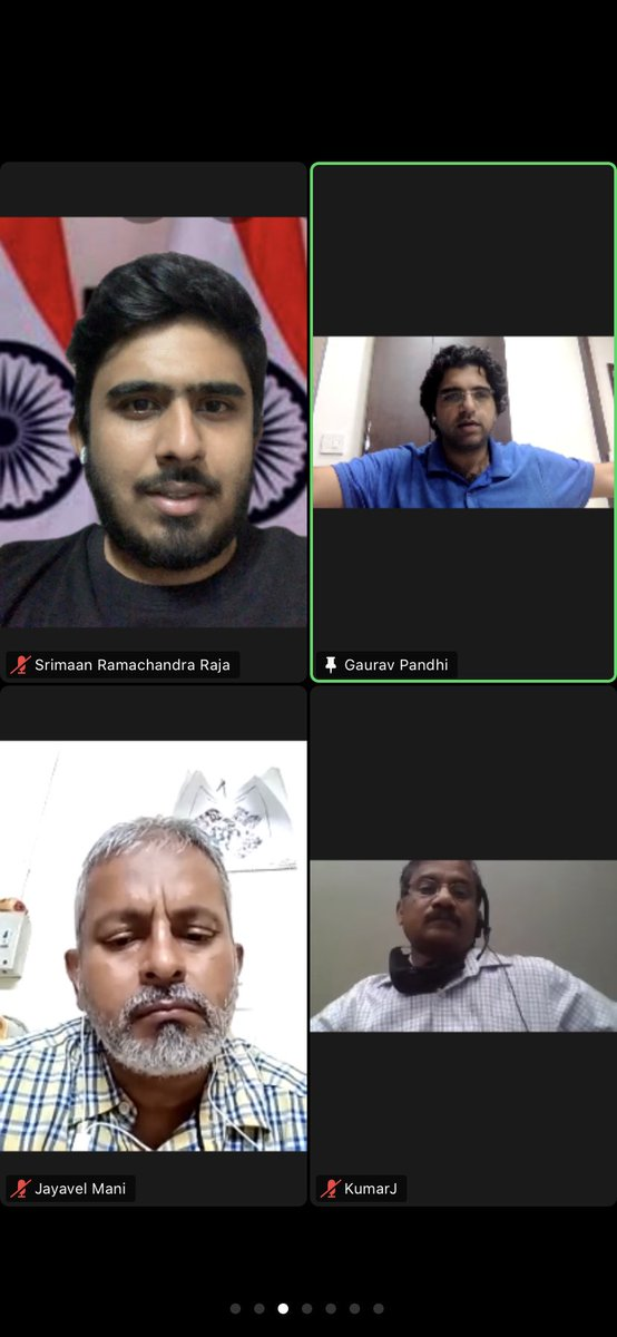Today had a interactive session with @GauravPandhi sir for strengthening congress volunteers for campaign in the upcoming elections and help congress win 💪🏻 #TogetherStronger