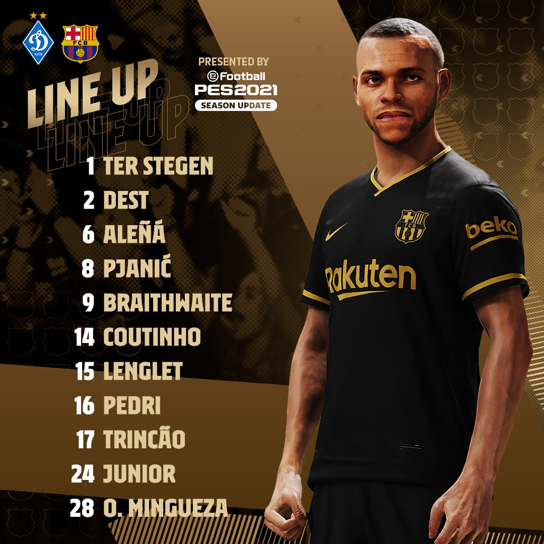 Fc Barcelona On Twitter Culers Here Is Your Starting Xi For Dynamobarca