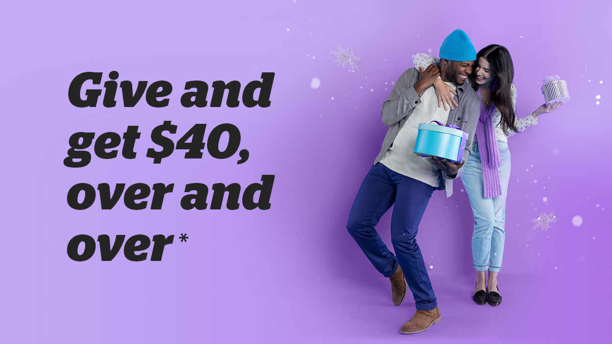 'Tis the season to share. Invite friends to get Cash Back on their holiday shopping and you'll earn $40 each. Referral bonuses are unlimited! ❄️ Terms apply.