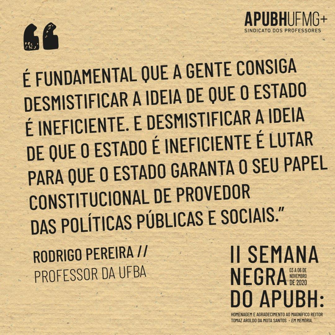 Confira a fala completa de Rodrigo Pereira, professor da UFBA, em:   #diadaconsciencianegra #novembronegro #novembronegroufmg #20denovembro