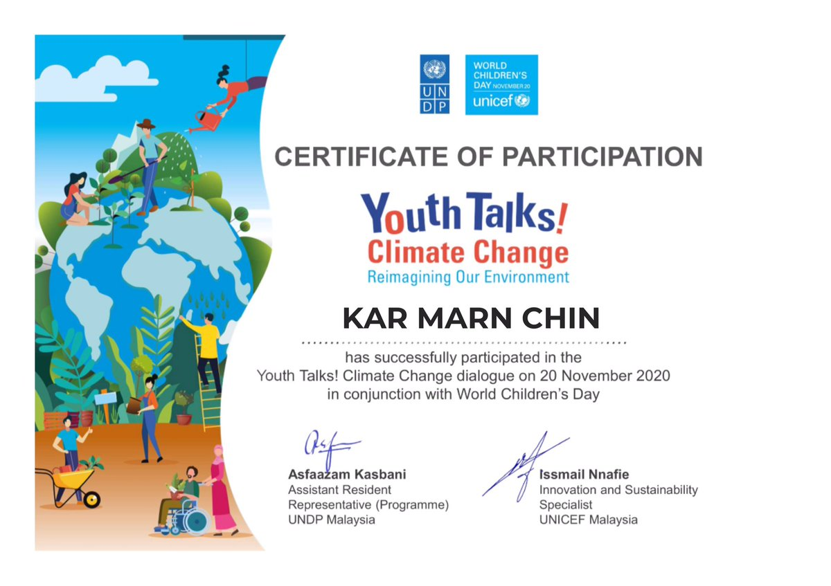 @myUNICEF and @MyUNDP teamed up on World Children's Day to reimagine our environment. We can reset the clock by starting from ourselves to make a greener future @JasminIrisha https://t.co/Lot4hEigcR