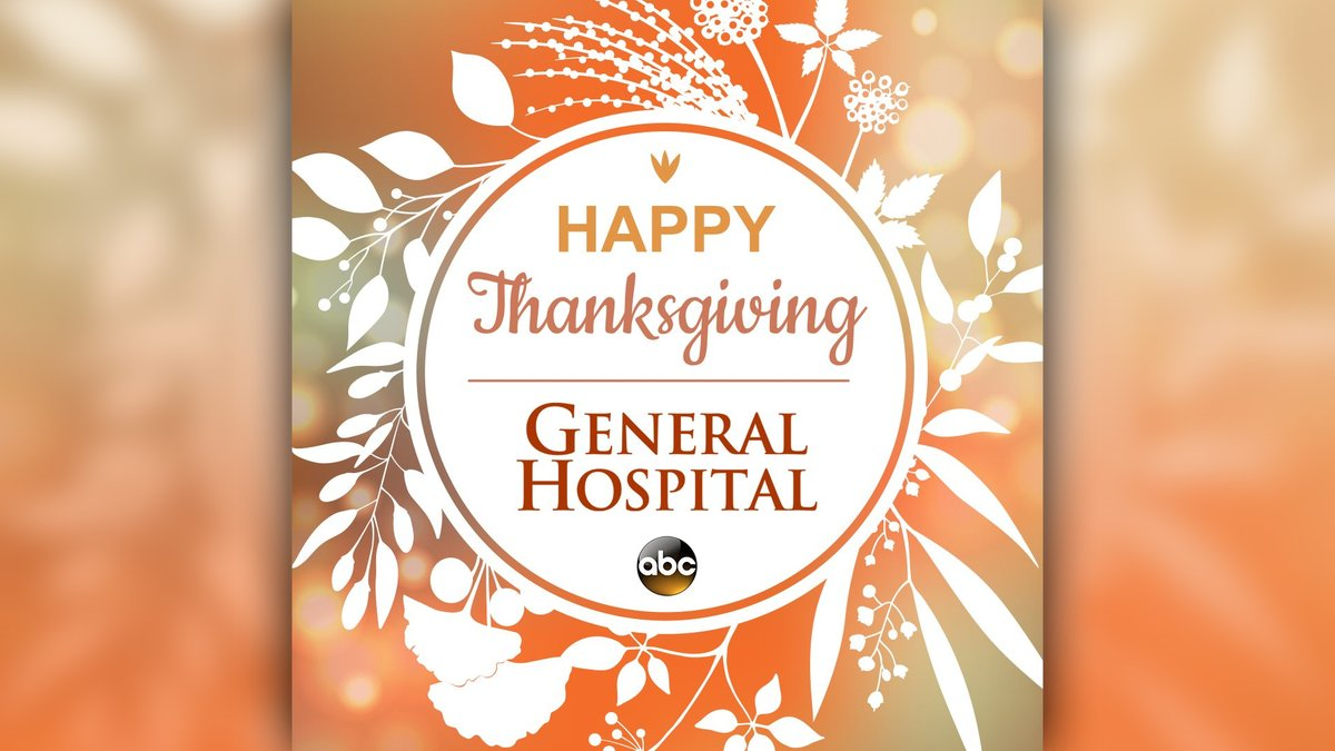 #HappyThanksgiving from everyone at General Hospital! 🦃 #GH https://t.co/ShWBA4bzXh