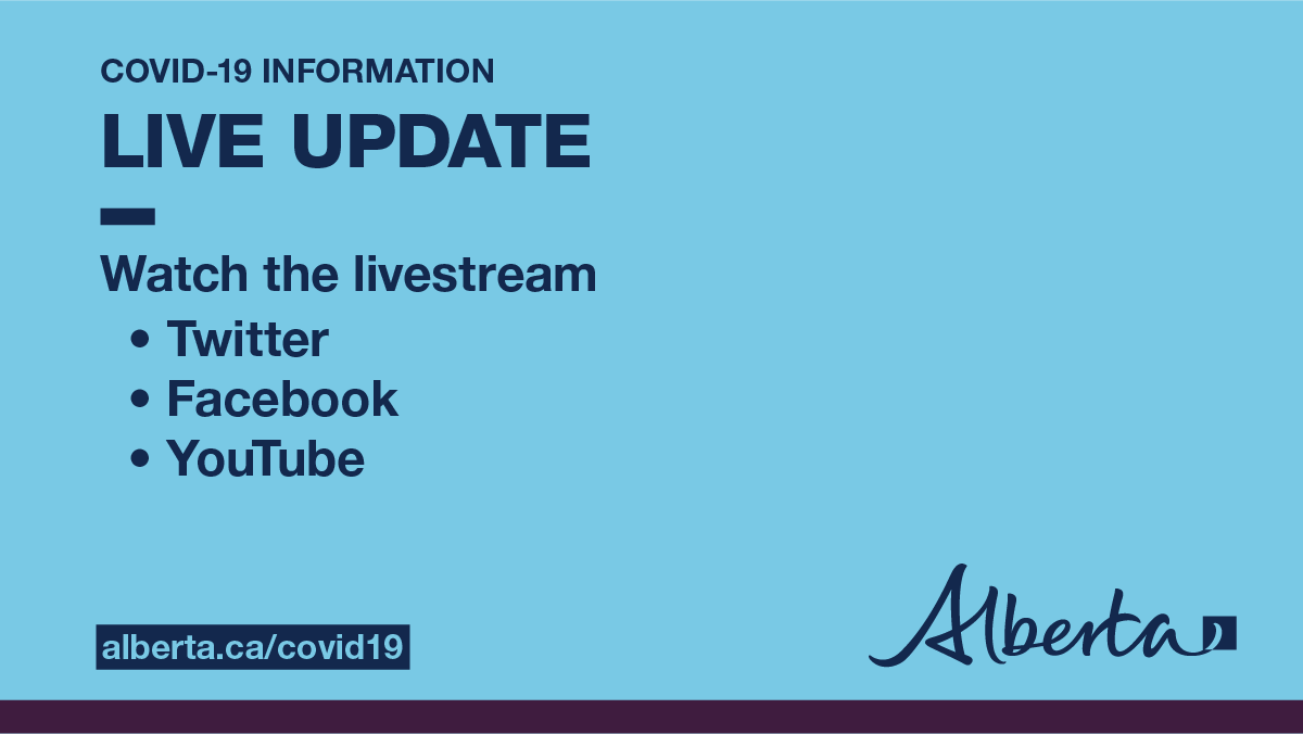 Alberta Government On Twitter Live At 4 30 Watch Alberta S Chief Medical Officer Of Health Cmoh Alberta And Officials Provide An Update On Covid19ab And The Ongoing Work To Protect Public Health Abhealth